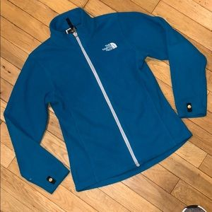 North face girls zip up jacket fleece sweater top